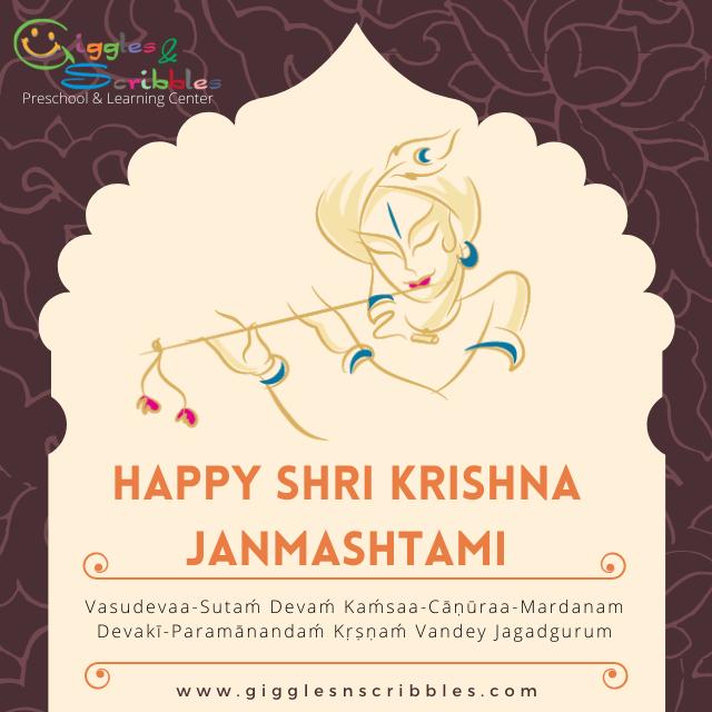 Shri Krishna Janamashtami Poster Giggles N Scribbles Preschool