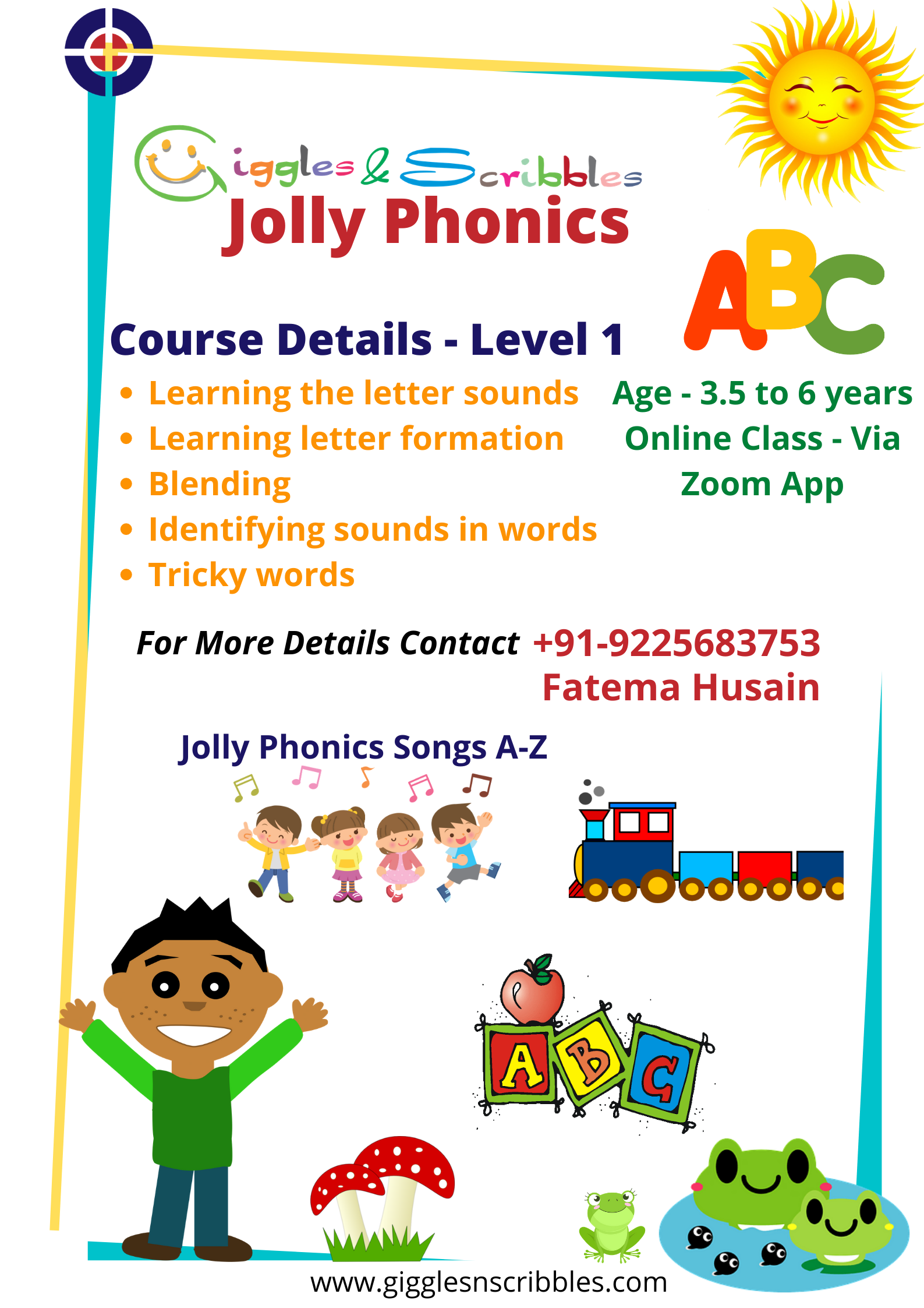 Gns Jolly Phonics Course Level 1 Giggles N Scribbles