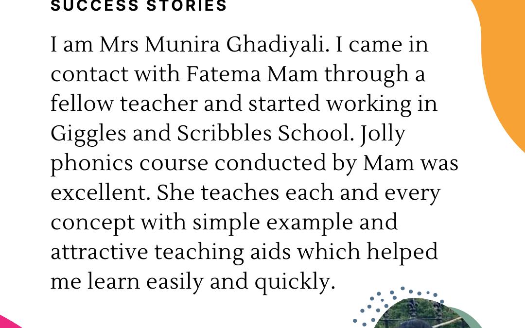 GNS Preschool & Learning Center Teachers Testimonial Success Stories